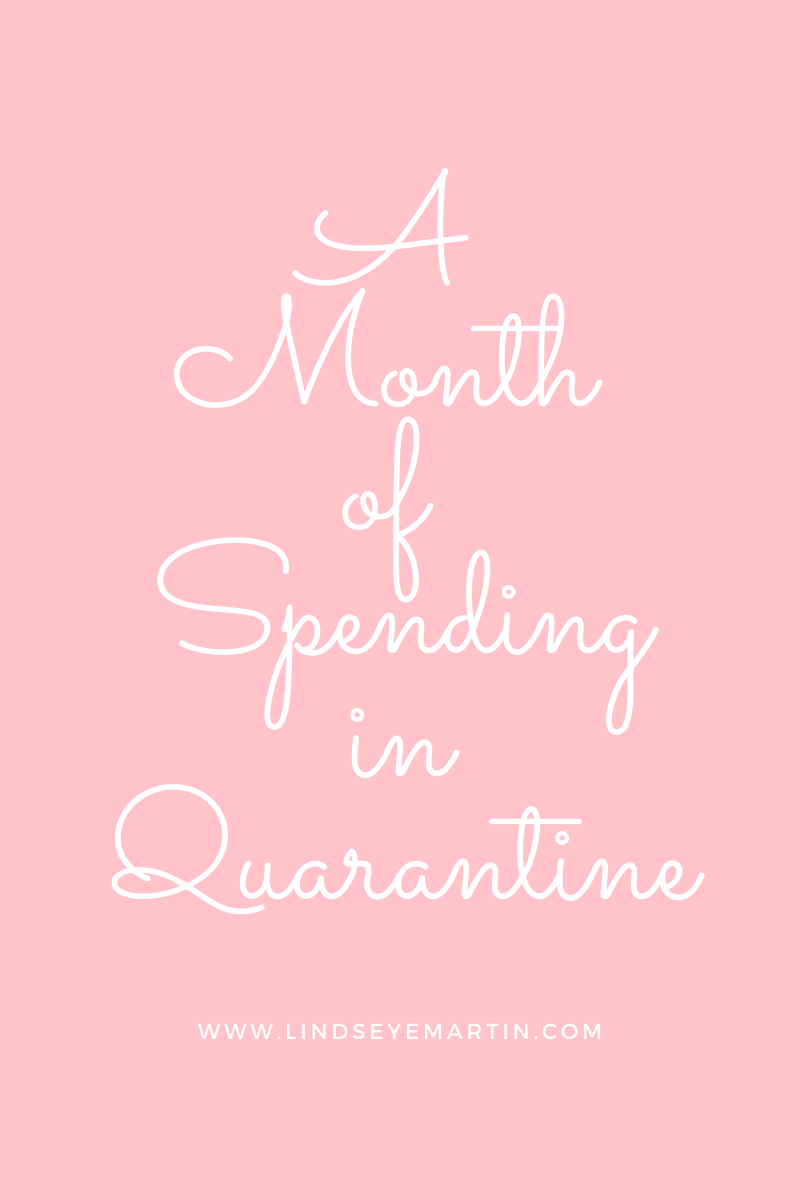 A Month of Spending in Quarentine